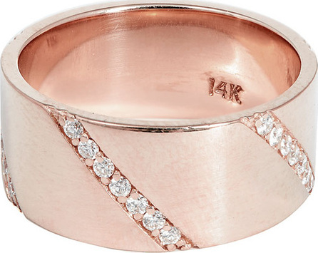 Lana Flawless Expose Wide Diamond Band Ring in 14k Rose Gold, Size 7