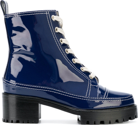 Nicole Saldaña Platform combat boots