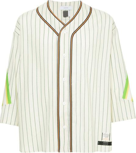 FACETASM Facetasm x Woolmark striped baseball shirt