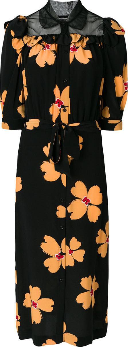 Simone Rocha Floral print shirt dress