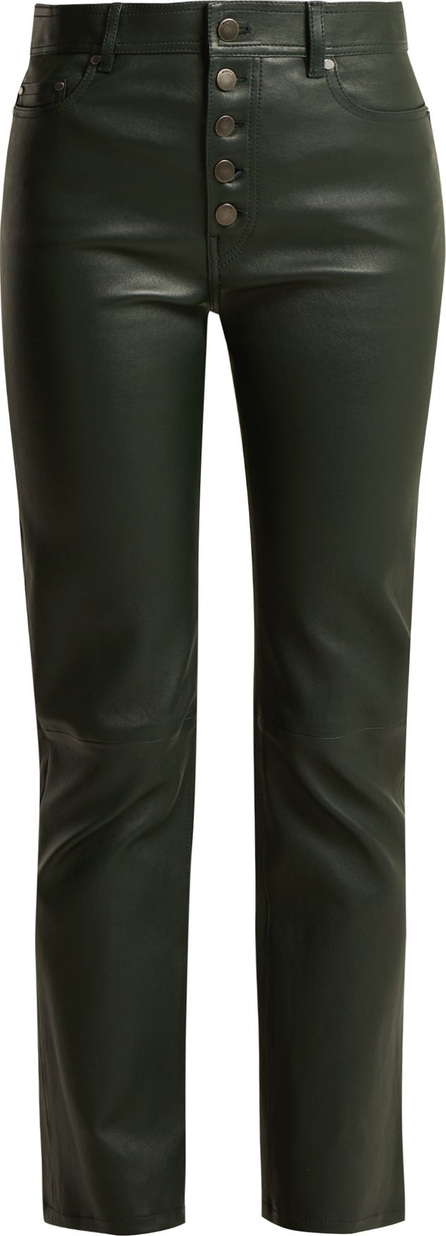 Joseph Cropped leather trousers