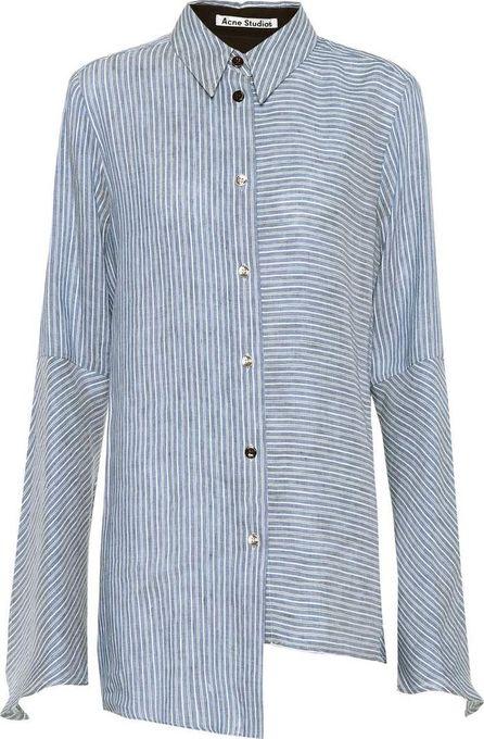 Acne Studios Balzac striped linen-blend shirt