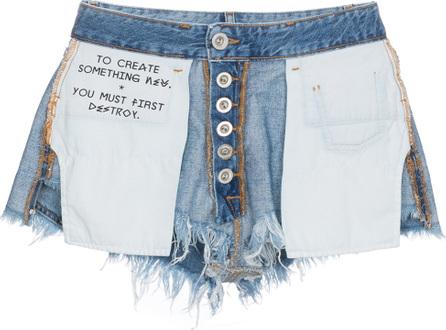 Ben Taverniti Unravel Project Inside Out Denim Shorts