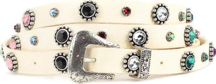 DODO BAR OR Crystal-embellished leather belt