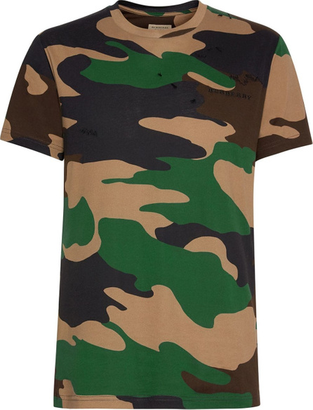Burberry London England Camouflage Print Cotton T-shirt