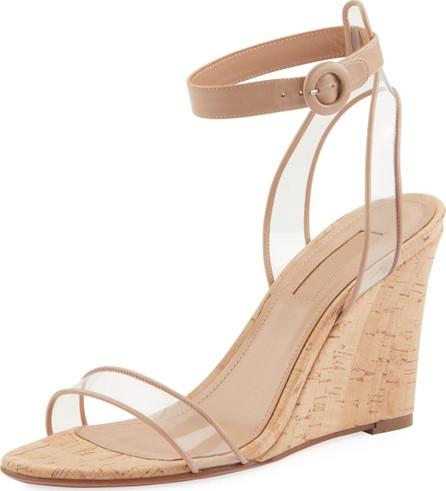 Aquazzura Minimalist Sandal Wedges w/ Illusion Straps