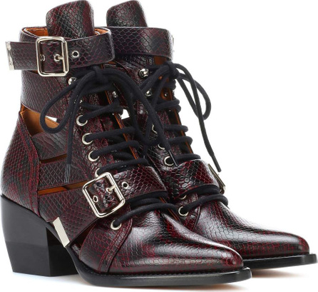 Chloe Rylee embossed leather boots