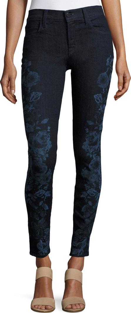 J BRAND 620 Mid-Rise Super Skinny Jeans, Blue Pattern
