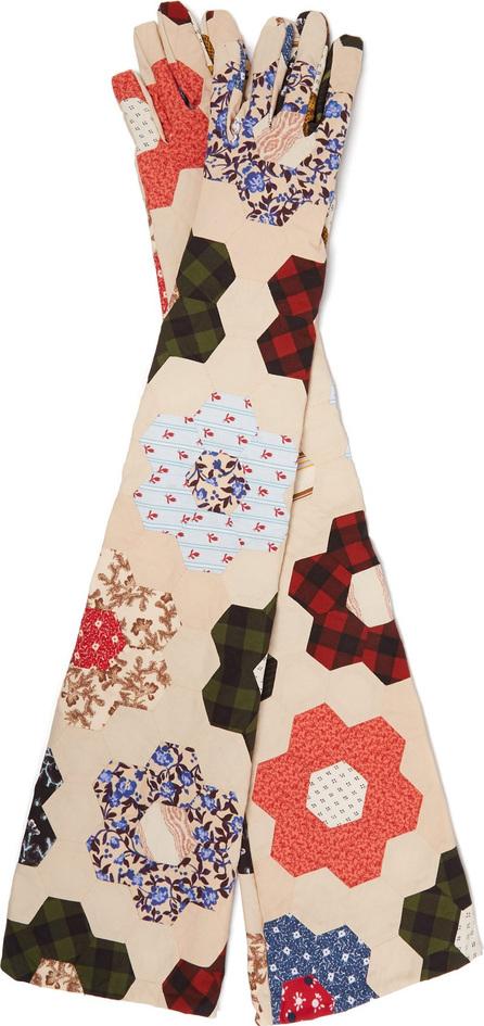 Calvin Klein 205W39NYC Patchwork cotton gloves