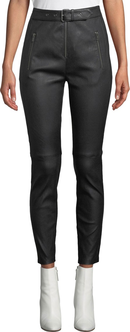 A.L.C. Kamil High-Waist Skinny-Leg Lamb Leather Pants