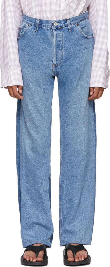 Bless Blue  Levi's Edition Two-Tone Pleatfront Jeans