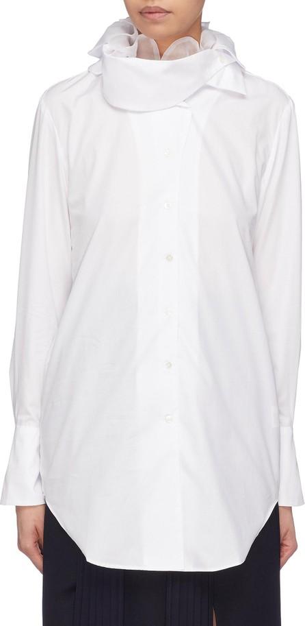 Akiko Aoki Organdy ruffle collar shirt