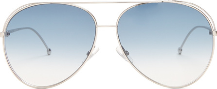 Fendi Double-rim aviator metal sunglasses