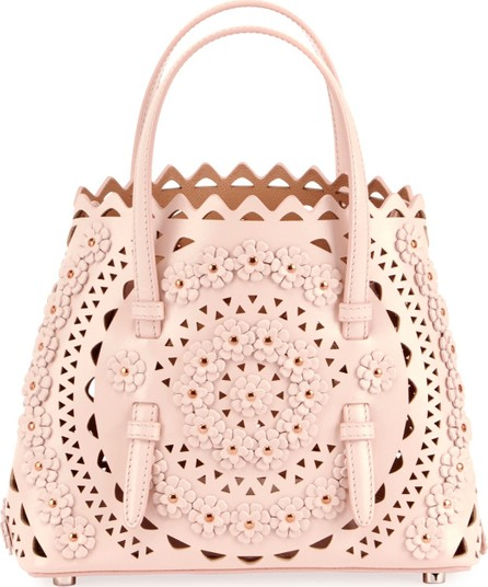 Alaïa Mina Mini Cuir Lux Crossbody Bag