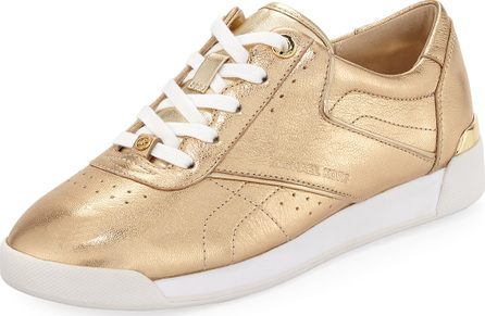 MICHAEL MICHAEL KORS Addie Metallic Lace-Up Sneaker, Gold