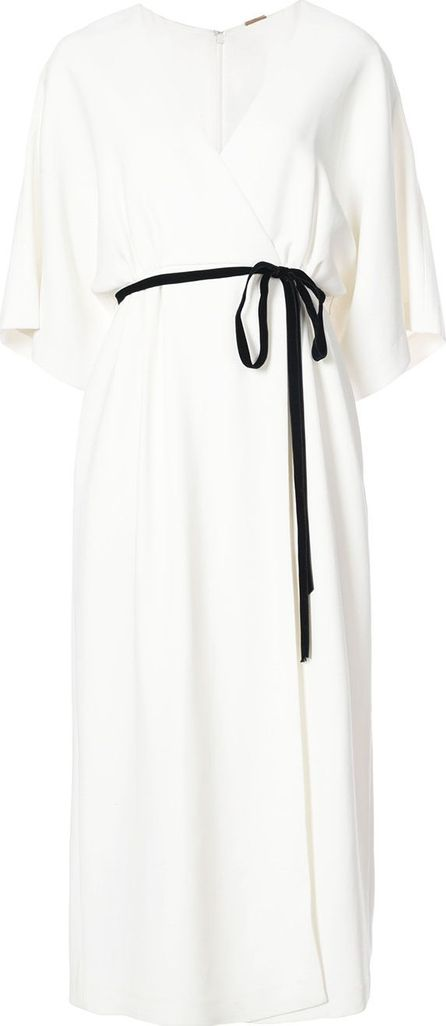 Adam Lippes belted plunge dress