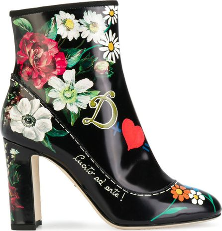 Dolce & Gabbana printed ankle boots