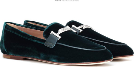 Tod's Exclusive to mytheresa – Double T velvet loafers