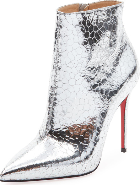 Christian Louboutin So Kate Metallic Leather Red Sole Bootie