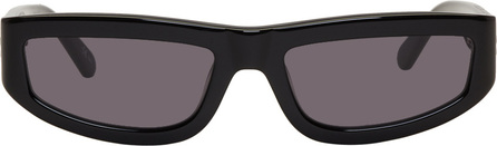 Stella McCartney Black Slim Rectangular Sunglasses