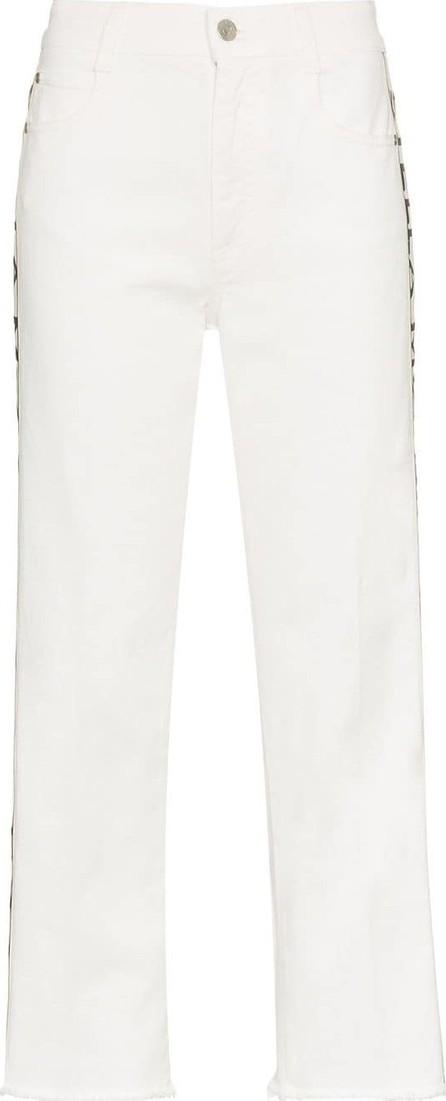 Stella McCartney Logo strip cropped jeans