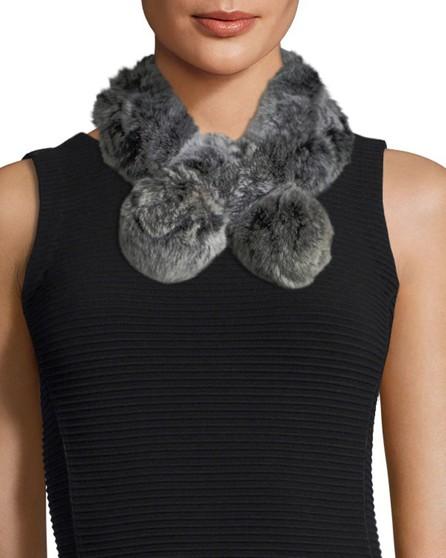 Belle Fare Rabbit Fur Neck Warmer