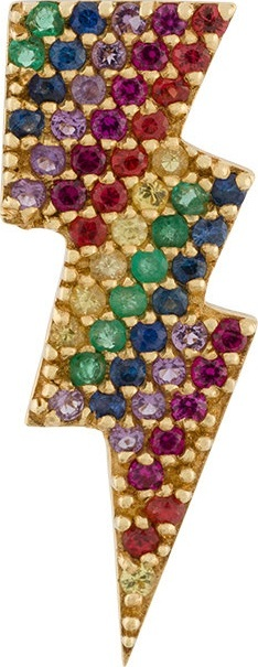 Anton Heunis gold and precious stones lightning bolt earring