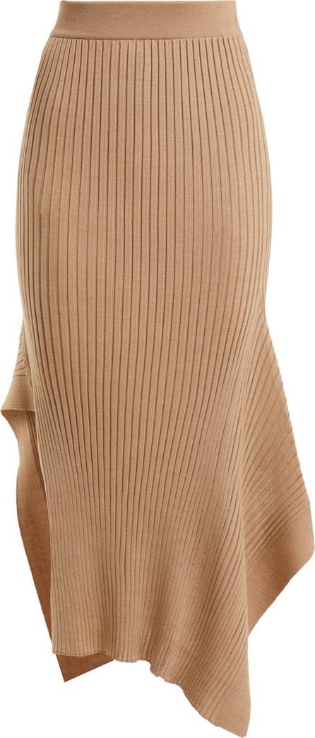 Stella McCartney Asymmetric ribbed-knit skirt