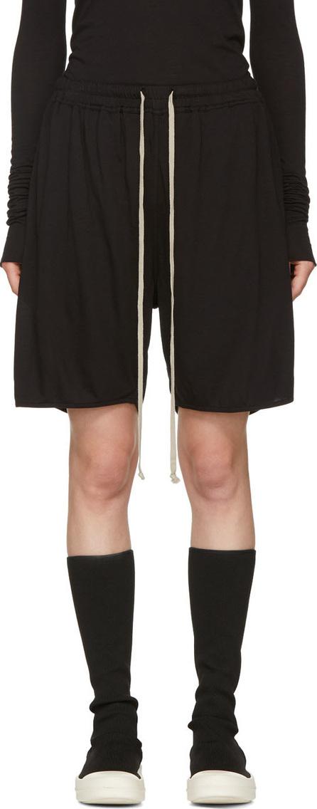 Rick Owens Lilies Black Light Jersey Shorts