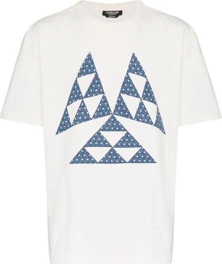 Calvin Klein 205W39NYC triangle print cotton t shirt