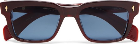 Jacques Marie Mage Molino Crimson Square-Frame Acetate 18-Karat Gold Sunglasses