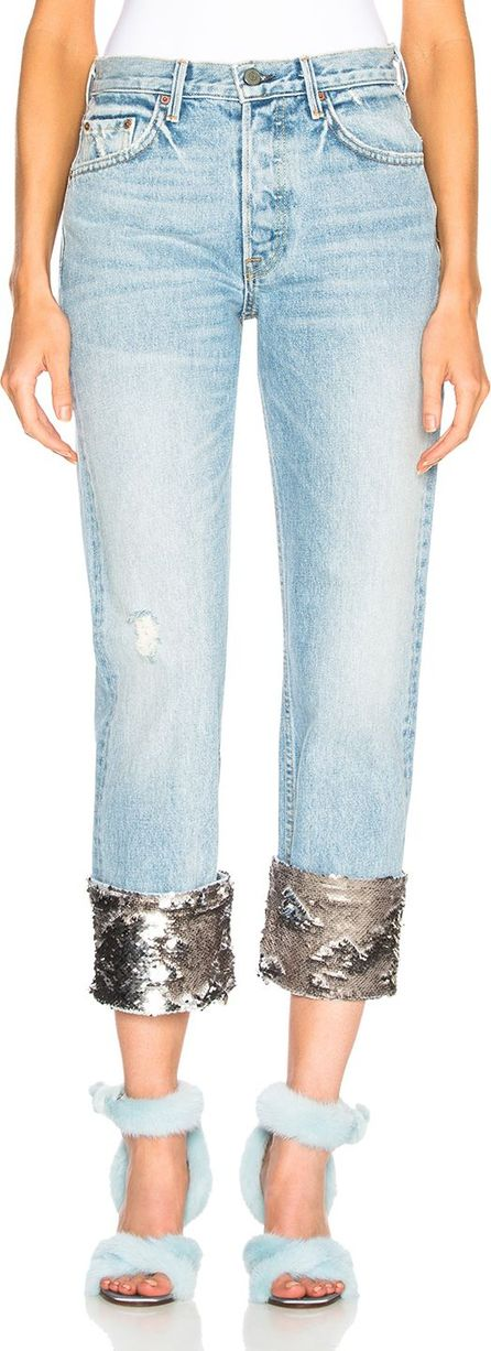 Grlfrnd Sequin Helena High Rise Straight