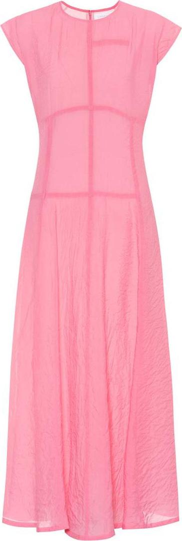 Victoria Beckham Cap-sleeve crêpe midi dress