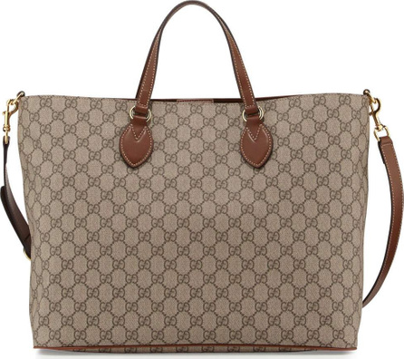 Gucci GG Supreme Top-Handle Tote Bag, Tan