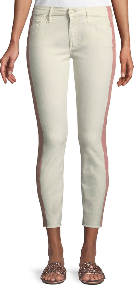 MOTHER Looker Side-Stripe Ankle Skinny Jeans