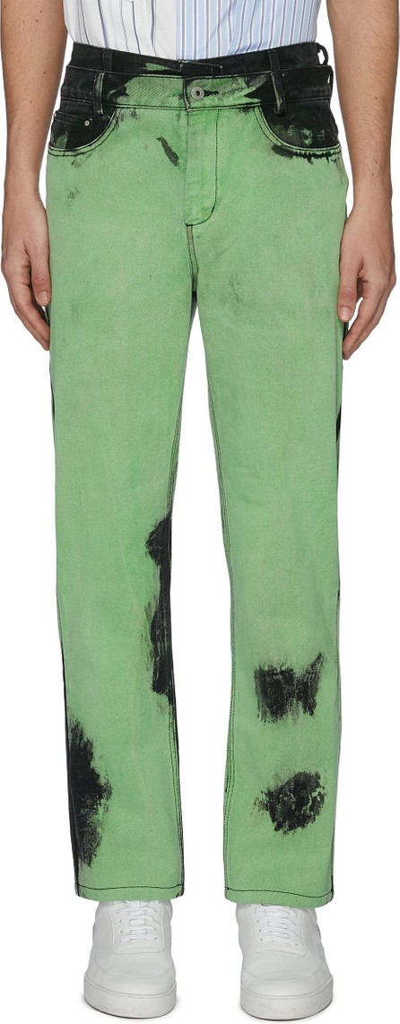 Feng Chen Wang Acid wash layered jeans