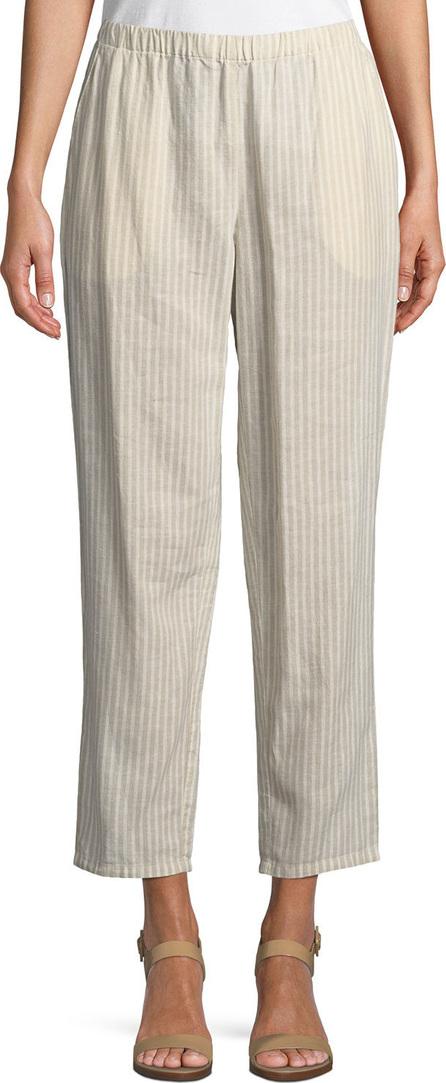 Eileen Fisher Striped Hemp-Blend Relaxed-Leg Ankle Pants