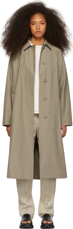 Stella McCartney Khaki Cotton Coat