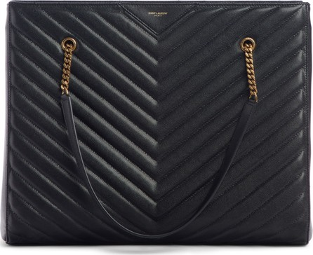 Saint Laurent Jumbo Tribeca Quilted Calfskin Leather Tote