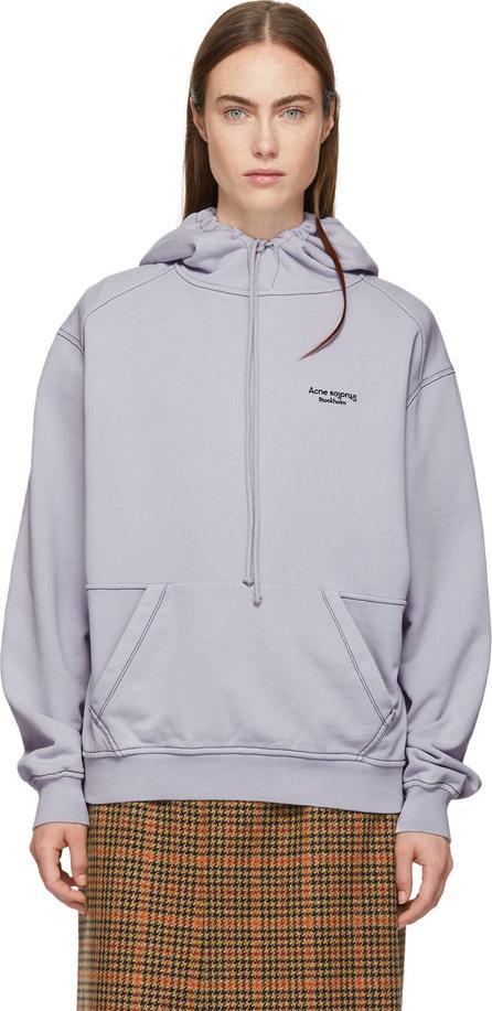 Acne Studios Purple Logo Hoodie