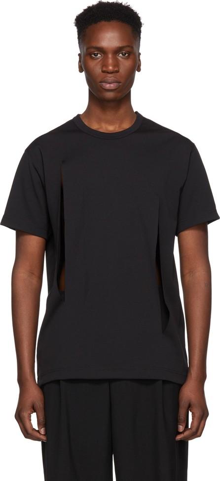 Comme Des Garçons Homme Plus Black Cut-Out T-Shirt