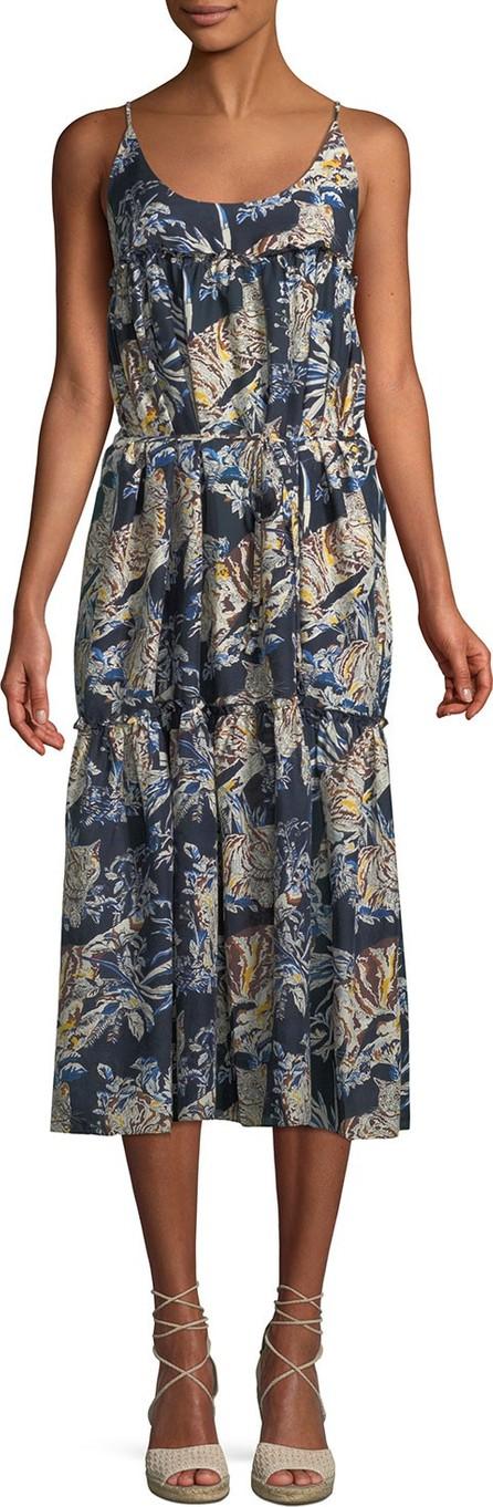 Stella McCartney Jungle Print Cotton-Silk Midi Coverup Dress