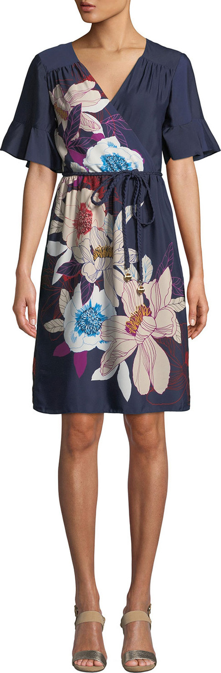 Trina Turk Lucy Wrap Dress in Floral Print