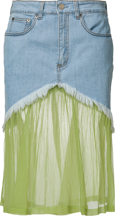 Daizy Shely Panelled denim skirt