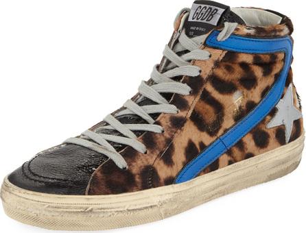 Golden Goose Deluxe Brand Slide Leopard High-Top Sneaker
