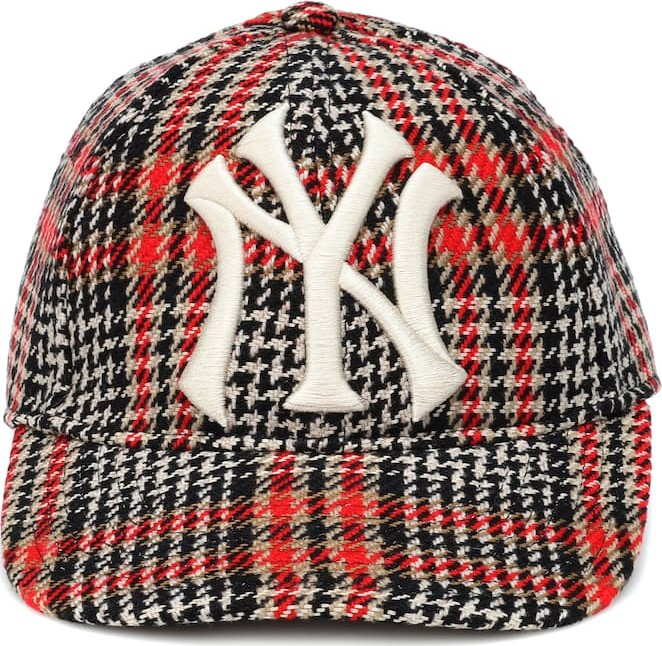 Gucci NY Yankees houndstooth baseball cap - Mkt 7f31659dc0a