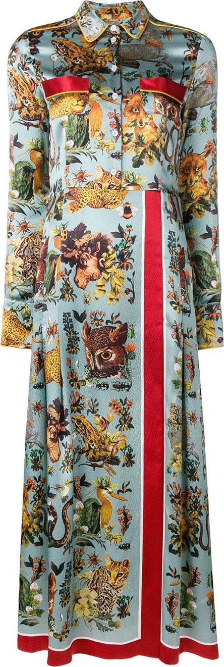 F.R.S For Restless Sleepers Animal print shirt dress