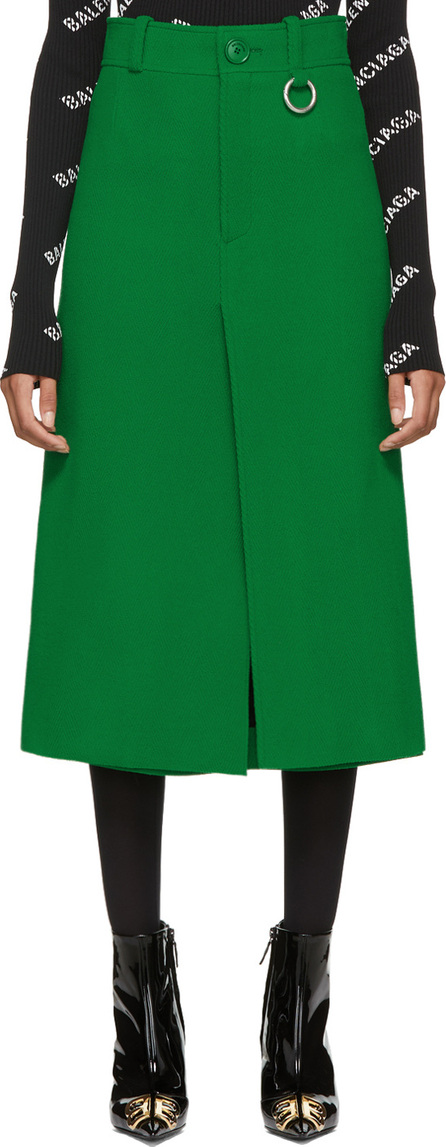 Balenciaga Green Pleat Skirt