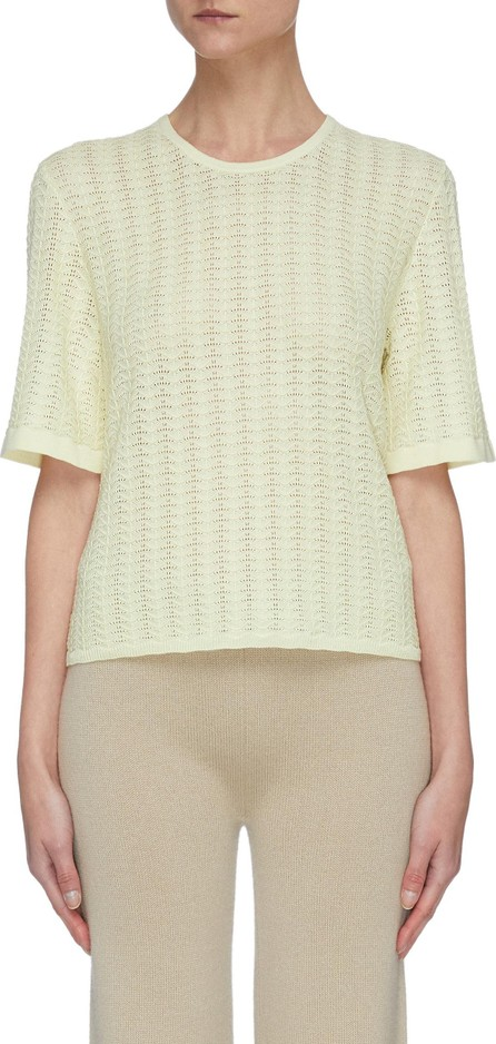 CRUSH Collection Wavy pattern silk-blend top