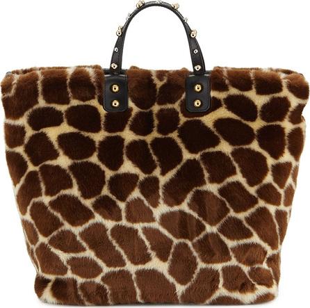 Dolce & Gabbana Giraffe Fur Beatrice Tote Bag